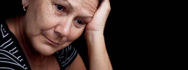 Woman 'zoning out' and thinking of past